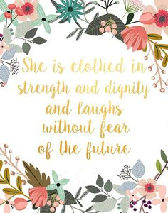 She Is Clothed In Strength And Dignity by PaperStormPrints on Etsy