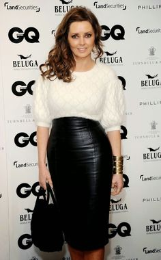 Leather Leather Leather Blog: Carol Vorderman in Tight Leather Skirt