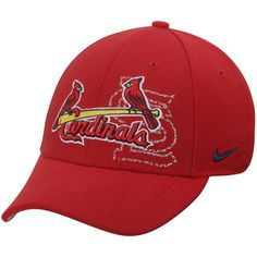 St. Louis Cardinals Nike Graphic Swoosh Performance Flex Hat - Red