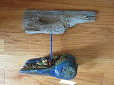 Mixed Media Driftwood Whale Sculpture Original One of a Kind Artwork by CS Alexis by TinkersAttic on Etsy