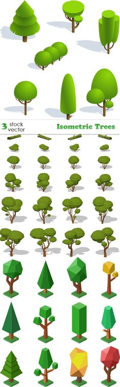 Vectors - Isometric Trees