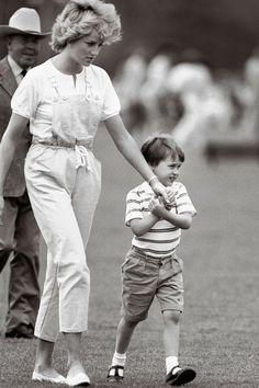 Princess Diana & her son Prince William.:
