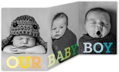 Tri-Fold Birth Announcements & Baby Birth Announcement Cards | Shutterfly