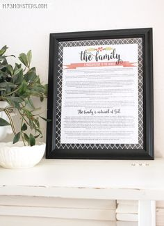 Free Printables of the Family Proclamation