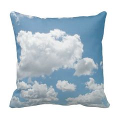 Just Clouds Pillow I could see several of these great cloud pillows on a couch or a bed.