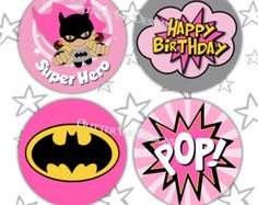 Super héroe partido Pink BATGIRL chica super por GlitterInkDesigns Batgirl Party, Batman Party, Batgirl Cake, Superhero Theme Party, Party Themes, Party Ideas, Printable Invitations, Party Printables, Disney Printables