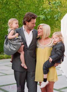 Tori Spelling family shot
