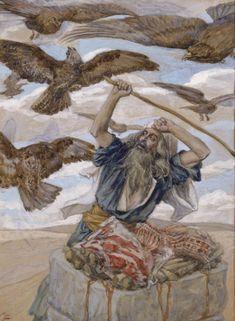 Abraham guarding his sacrifice - James Tissot