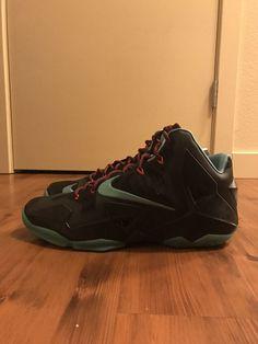 pretty nice 39f70 b8dc9 Nike LeBron 11 XI Jade diffused blue light crimson size 13  fashion   clothing