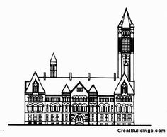 Great Buildings Drawing - Allegheny County Courthouse