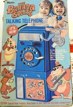 — The Banana Splits Talking Telephone...I always wanted this! This must be a 50s toy. It's so cool though. I'm sorry it wasn't around for me in the 60s.