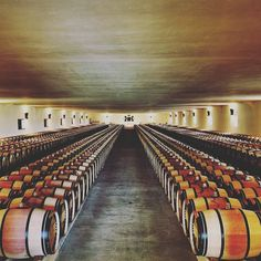 Let the auction begin from @sothebys - A wine lover's paradise: inside the Grand Chai (Great Barrel Hall) at the legendary Château Mouton Rothschild in France. Constructed in 1926 and measuring 100 metres long and 25 metres wide the hall can hold up to 1000 oak casks of Bordeaux on a single level at any one time. Join us online or at our London saleroom on 29 March to acquire mature vintages from the château as part of our sale of over 440 lots from A Monumental Collection from the Cellars…