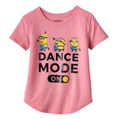 "Girls 7-16 & Plus Size Despicable Me Minions ""Dance Mode On"" Graphic Tee"