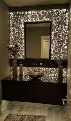 Great idea for foyer (minus sink. keep floating counter) Modern House Design, Home Design, Decor Interior Design, Interior Design Living Room, Living Room Designs, Living Room Decor, Design Ideas, Bath Design, Vanity Design