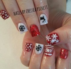 Black    Ugly Sweater DEER Nail Decal   Ugly Sweater Nails   Christmas Nail Designs   Christmas Nail Art   Nail Decals  Shop Nail Decals  weloveglitterdesign.com