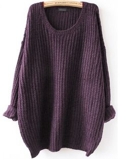 Shop Purple Drop Shoulder Textured Sweater online. SheIn offers Purple Drop Shoulder Textured Sweater & more to fit your fashionable needs.