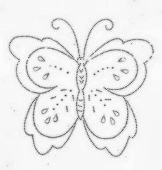free hand stitching patterns | Cute Butterfly Embroidery Pattern