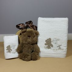 Little Bear baby bath towel and face washer baby gift hamper is a neutral baby gift perfect for a baby girl or boy. Baby Gift Hampers, Bath Soak, Cute Bears, Bath Design, Corporate Gifts, Bath Time, Bath Towels, Washer, Baby Gifts