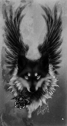 44 Ideas tattoo wolf ideas spirit animal black wolves for 2019 Wolf Tattoo Design, Anime Wolf, Wolf Tattoos, Fantasy Kunst, Fantasy Art, Wolf Artwork, Wolf Spirit Animal, Fantasy Wolf, Wolf Wallpaper