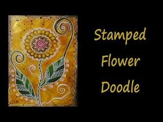 Stamped Flower Doodle - YouTube