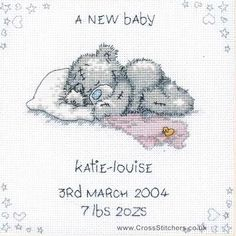 A New Baby - Tatty Teddy Cross Stitch Kit