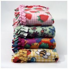 No Sew Fleece Blankets (and a link to where they can be donated)