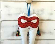 Personalized Boys Superhero Tooth Fairy Pillow by RubyLewisDesigns