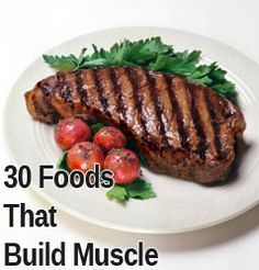 'Men's Health' published a list of the top 30 foods that build muscle - and it SHOCKED me!! Why? Because it was good! It contained accurate information and wasn't, as I had anticipated, a low-fat f... #musclefood