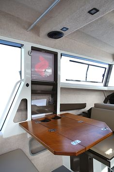 An innovative approach to the forward raking windscreens commonly found on traditional Pilothouse boat models. Pilothouse Boat, Bait Tank, Winch Rope, Privacy Curtains, Boat Safety, Cabin Lighting, Sliding Windows, Power Boats