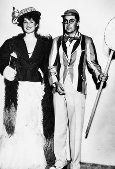Norma and Irving attend a Gay Nineties party thrown by Carole Lombard, 1933