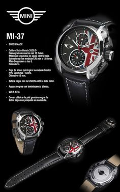 Mini Cooper Paceman, Mini Coopers, Stylish Watches, Watches For Men, John Cooper Works, Watch Faces, Clock, Vehicles, Bracelets