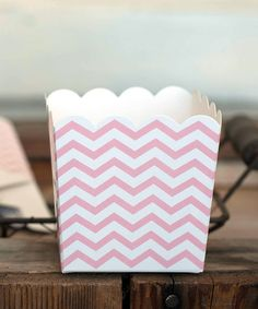 Another great find on #zulily! Pink Zigzag Party Box - Set of 10 #zulilyfinds