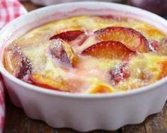 Gratin de prunes léger au fromage blanc : http://www.fourchette-et-bikini.fr/recettes/recettes-minceur/gratin-de-prunes-leger-au-fromage-blanc.html