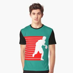 """""""basketball attack (white)"""" T-shirt by denip 