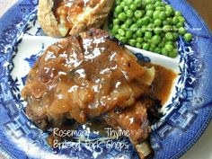 Rosemary and Thyme Braised Pork Chops -  Cooking On A Budget
