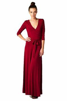On Trend Paris Solid Long Maxi Dress Chevron 3/4 Sleeve (Large, Burgandy) On Trend,http://www.amazon.com/dp/B00G0G37OY/ref=cm_sw_r_pi_dp_RzaHsb07TT8ZZCW9