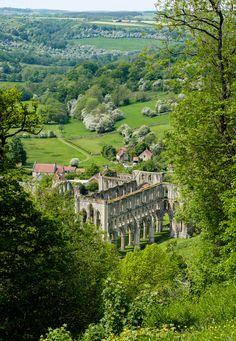 "England Travel Inspiration - travel-lusting: "" Rievaulx Abbey, North York Moors National Park, North Yorkshire, England (by Allan Harris) "" Devon England, Yorkshire England, Yorkshire Dales, England And Scotland, Yorkshire County, Oxford England, Cornwall England, London England, North Yorkshire"