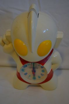 RARE Vintage 1990s Ultraman Alarm Clock by FloridaFinders on Etsy, $40.00