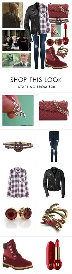 """date with Draco Malfoy"" by onedirection4ever2 ❤ liked on Polyvore featuring Rebecca Minkoff, Rails, by / natalie frigo, Timberland and Guerlain"