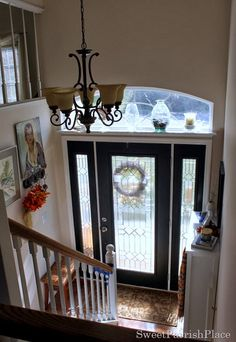 I want this kind of entry in my soon-to-be split foyer...