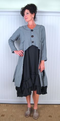 Great idea for altering a coat or dress! Tina Givens Miles Jacket. Multiple views for construction info