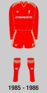 Still my favourite Liverpool kit -1985-1986