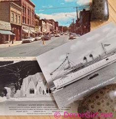 Vintage Postcards from Petoskey Michigan