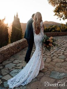 See Through Lace Rustic Wedding Dresses Long Sleeve Mermaid Wedding Dress Wedding Dresses Mermaid, Wedding Dresses Lace, Wedding Dresses, Wedding Dresses With Sleeves Wedding Dresses 2018 Wedding Dress Tea Length, Mermaid Wedding Dress With Sleeves, Backless Mermaid Wedding Dresses, Open Back Wedding Dress, Rustic Wedding Dresses, Wedding Dresses 2018, Mermaid Dresses, Bridal Dresses, Mermaid Gown