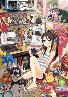 Test- See if you can name all the merchandise she has!  20%= Okay 50%= Geek- normal 70%= Geek- hard 90%= True Otaku