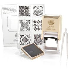 Anna Griffin Self-Inking Stamper Kit with 6 Clear Stamps at HSN.com.