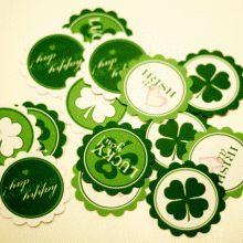 St. Patricks party circles #freeprintables #stpatricksday  #ishareprintables