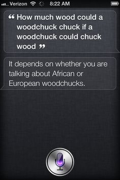 Siri answers the age-old question