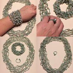 Вязанные бусы. Комплект.  https://www.instagram.com/jl_biser/