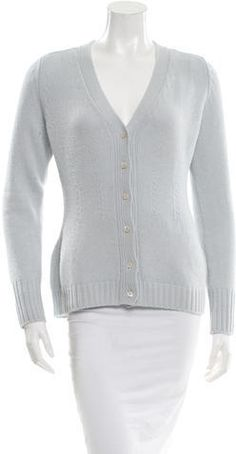 Prada Wool V-Neck Cardigan Women's V Neck Sweaters, V Neck Cardigan, Prada, Wool, Stylish, Fashion, Women's Blouses, Moda, Fashion Styles